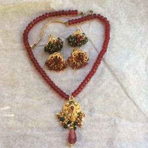 Jewelry - Indian Necklace with Two Pairs Of Earring Charms